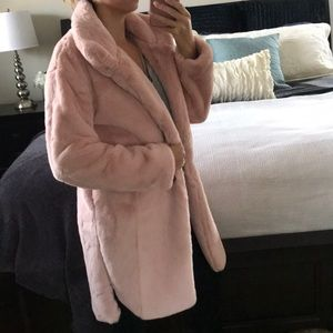 Desired Collection Jackets & Coats - LAST1️⃣Dusty pink faux fur Coat FINAL PRICE